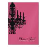 311-Glitz lámpara - color de rosa metálico de la Invitación 12,7 X 17,8 Cm