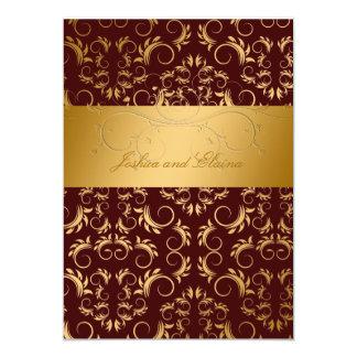 311-Golden adivinan bingo nupcial del chocolate Invitación 12,7 X 17,8 Cm