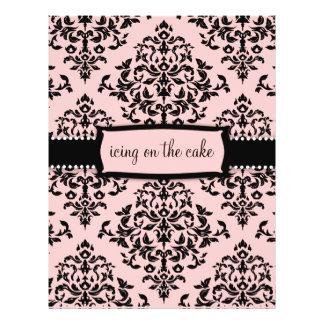 311-Icing en el rosa dulce de la torta Tarjeton