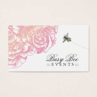 311-Le felpa Fleur con la abeja - rosa cremoso Tarjeta De Visita