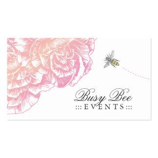 311-Le felpa Fleur con la abeja - rosa cremoso Tarjetas De Visita