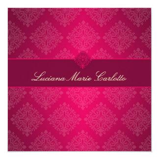 311 rosas fuertes de Luciana se descoloran Invitación 13,3 Cm X 13,3cm