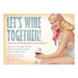 311 Wine junto chica modelo retro