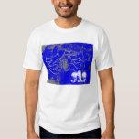 313 azul camisetas