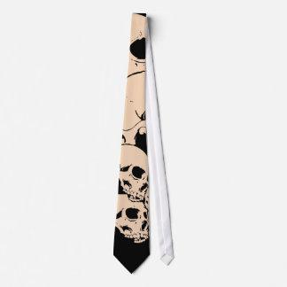 314 cráneos corbata personalizada