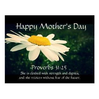 31:25 de los proverbios, el día de madre, postal