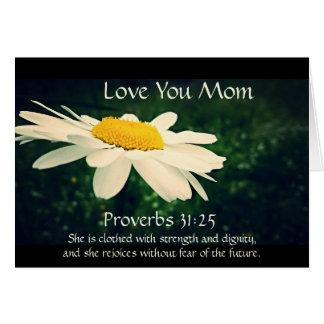 31:25 de los proverbios, el día de madre, tarjeta de felicitación