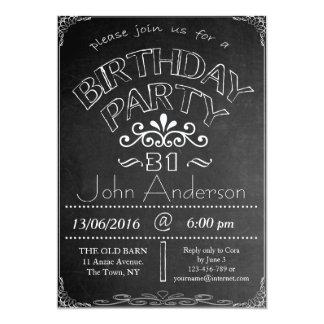 31ro Invitación de la celebración del cumpleaños