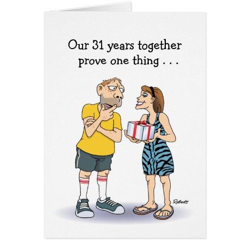 31ro Tarjeta del aniversario de boda: Amor