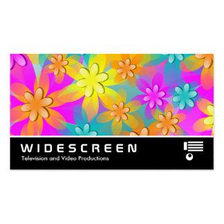 322 con pantalla grande - Flores coloridas 3d Tarjetas Personales