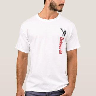 328-2 pequeña camisa delantera del Taekwondo del