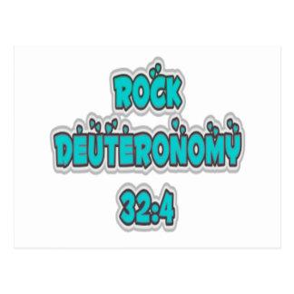 32:4 de Deuteronomy de la roca Postal