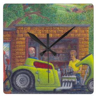 32 barra caliente del cupé de la ventana de Ford t Reloj De Pared