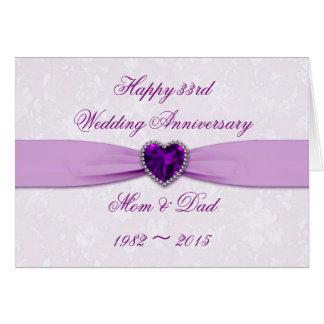 33ro tarjeta de felicitación del aniversario de