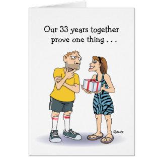 33ro Tarjeta del aniversario de boda: Amor