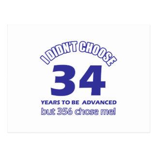 34 años de adelanto postal