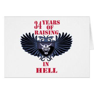 34 años de aumento en infierno felicitaciones