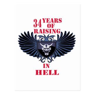 34 años de aumento en infierno postal