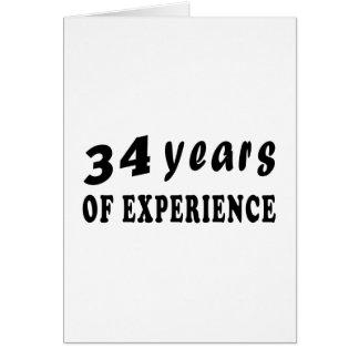 34 años de experiencia tarjeta