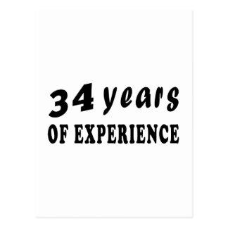 34 años de experiencia tarjetas postales