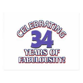 34 años de fabulousity postal