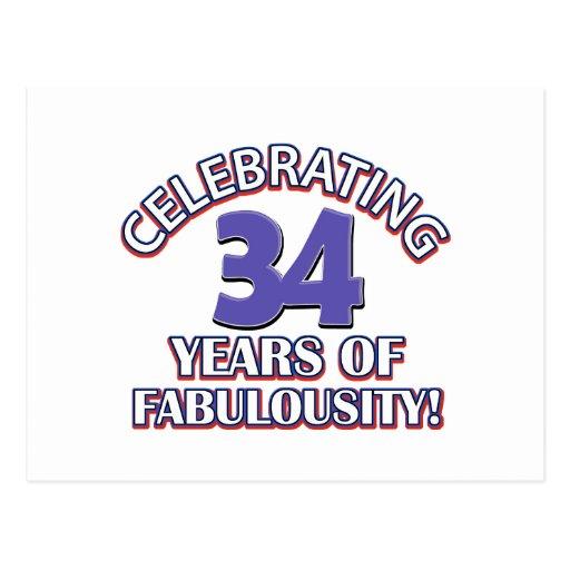 34 años de fabulousity postales