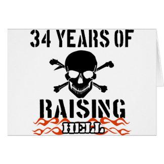 34 años de infierno de aumento felicitaciones