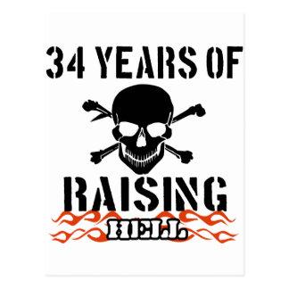 34 años de infierno de aumento tarjetas postales