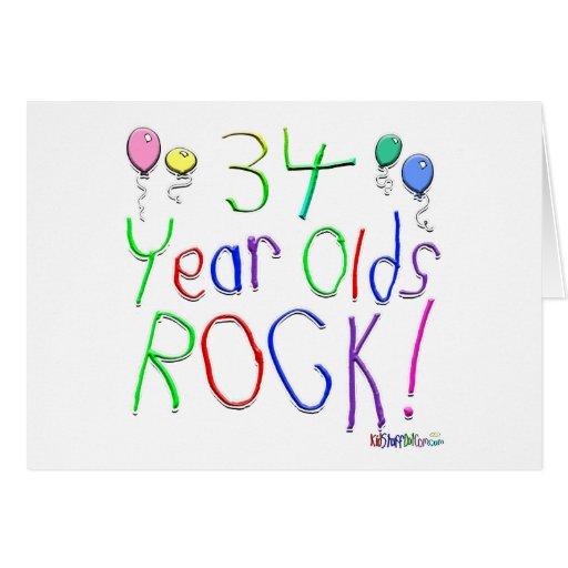 ¡34 años de la roca! felicitacion