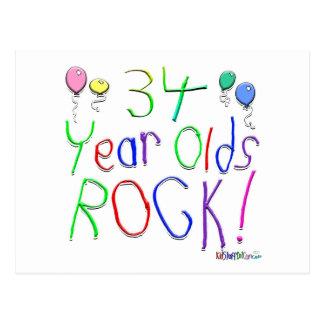 ¡34 años de la roca tarjeta postal