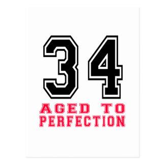 34 envejecido a la perfección postal