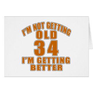 34 que estoy consiguiendo mejor tarjeta de felicitación