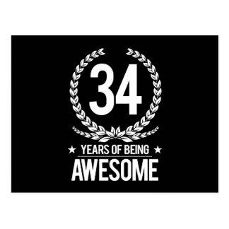 34to Cumpleaños (34 años de ser impresionantes) Postal