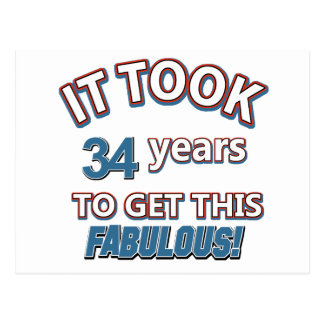 34tos diseños del cumpleaños del año postal