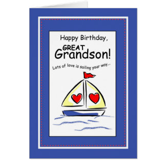 3541 grande - cumpleaños religioso del velero del tarjeta de felicitación