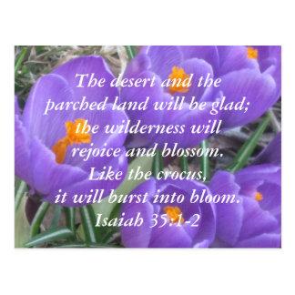35:1 de Isaías - ~ 2 el azafrán Postal