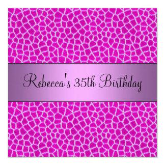35ta fiesta de cumpleaños elegante del estampado invitación 13,3 cm x 13,3cm