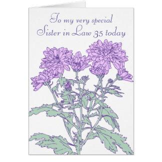 35ta tarjeta de cumpleaños de la cuñada del