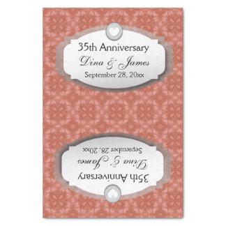 35to Coral Z22 del aniversario de boda del Papel De Seda