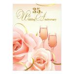 35to Invitaciones de la fiesta de aniversario del