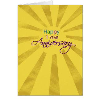 3607   un aniversario Sun del empleado del año Tarjeta De Felicitación