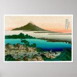 36 vistas del monte Fuji, vintage fino de Hokusai Posters