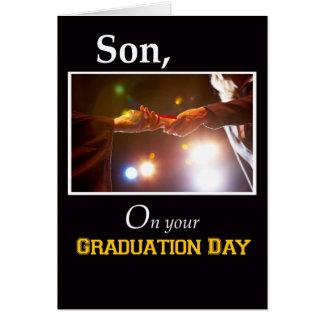 3733 hijo, diploma del día de graduación tarjetas