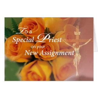 3764 bendiciones al sacerdote en la nueva tarjeta de felicitación