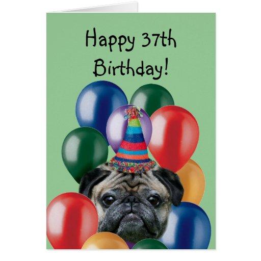 37.a tarjeta de felicitación feliz del perro del b