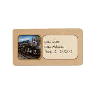 385 - Tren - vapor - 385 restaurados completamente Etiquetas De Dirección