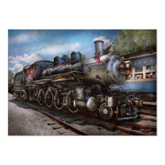 385 - Tren - vapor - 385 restaurados completamente Invitación 12,7 X 17,8 Cm