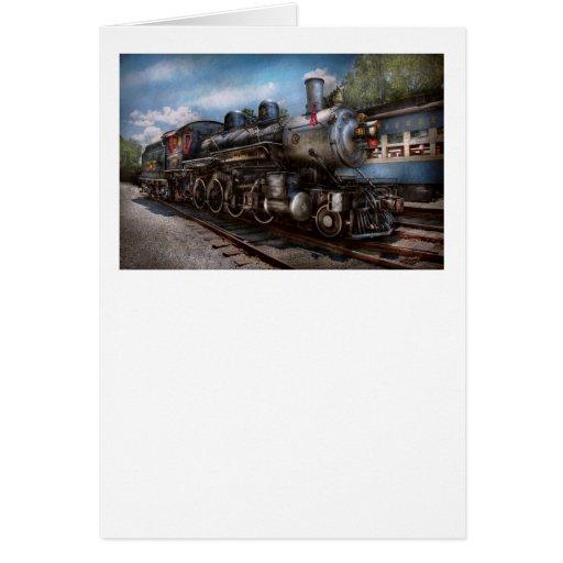 385 - Tren - vapor - 385 restaurados completamente Tarjetón