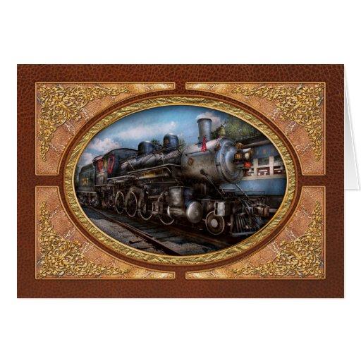 385 - Tren - vapor - 385 restaurados completamente Tarjeta