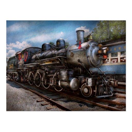 385 - Tren - vapor - 385 restaurados completamente Tarjeta Postal